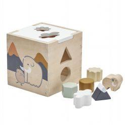 Kids Concept Caja Encaje con piezas de madera.