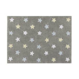 ALfombra de estrellas tricolor.