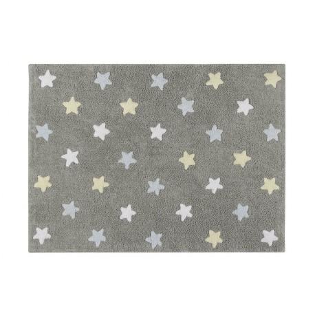 Alfombra Estrellas Gris tricolor.