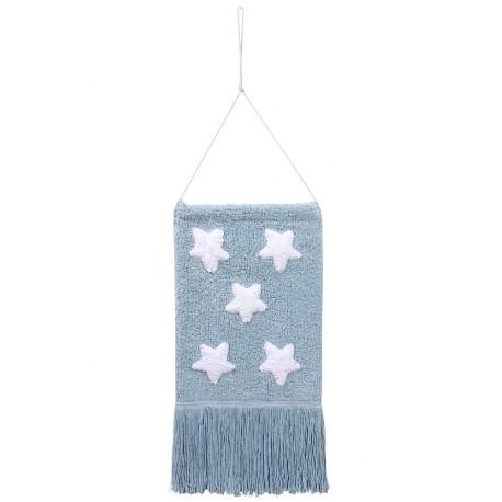 Colgante Pared Estrellas Azul