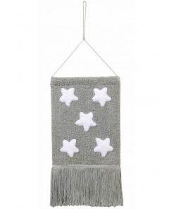 Colgante pared estrellas gris