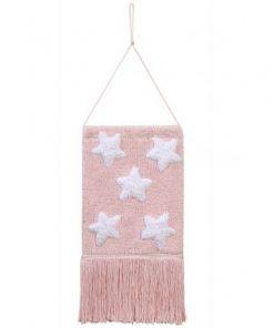 Colgante Pared Estrellas Rosa