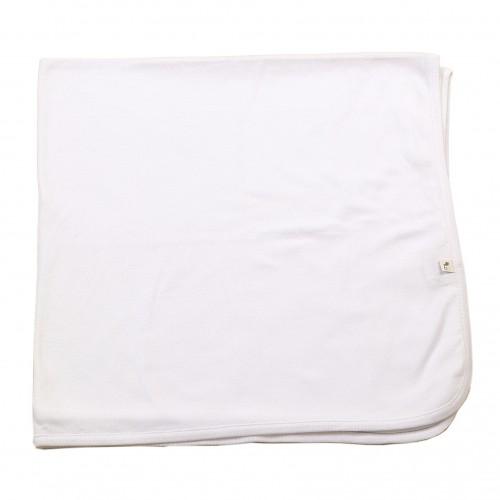 Manta blanca de algodón orgánico