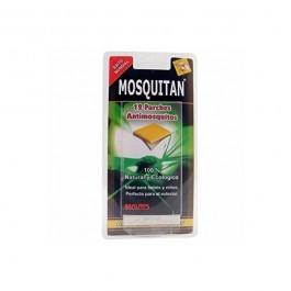 Parches con aceites esenciales, que espantan los mosquitos.