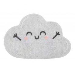 Alfombra lavable Happy Cloudde algodón con tintes naturales. De Lorena Canals.