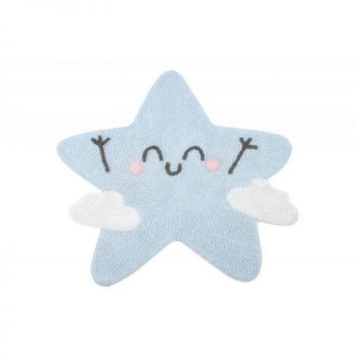 Alfombra lavable Happy Star.Alfombra de algodón con tintes naturales, de Lorena Canals.