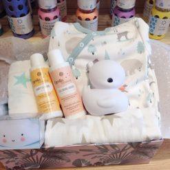 Canastilla cesta regalo para bebé.