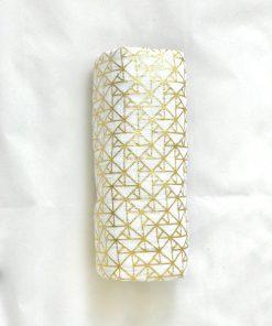 Muselina Metallic Gold. Gasa de algodón para bebé.
