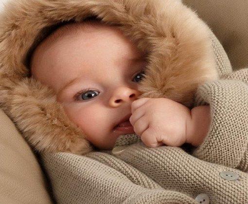 abrigo lana bebé