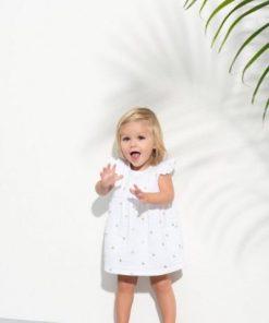 Vestido bebe algodon puntitos