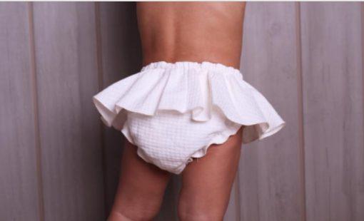 Braguita falda blanca