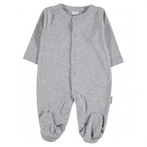 Pijama Plumeti grey de algodón Petit Oh!