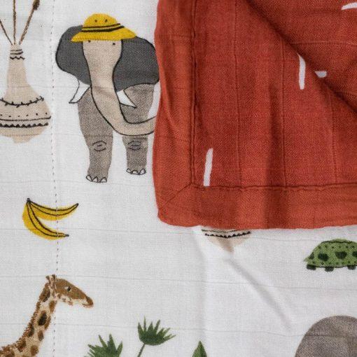 Manta de Bambú Safari Social